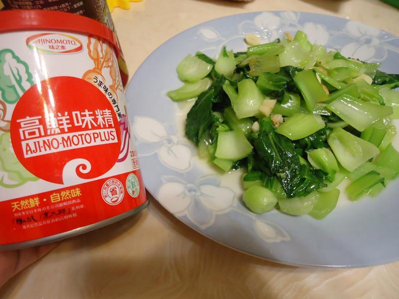蒜香青江菜家常炒 「味之素品牌」高鮮味精