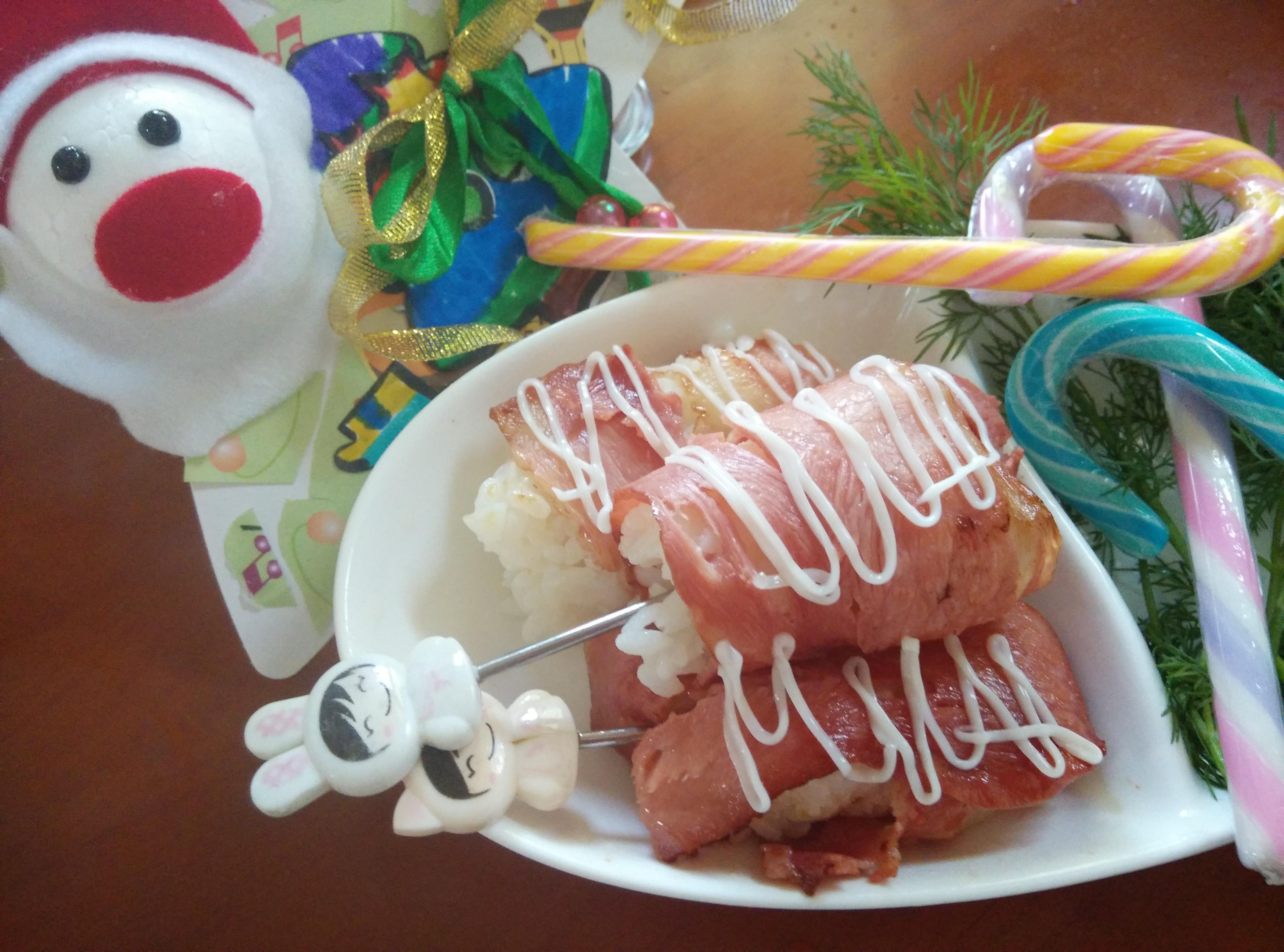 太子鮭魚培根飯糰捲【小七派對美食】