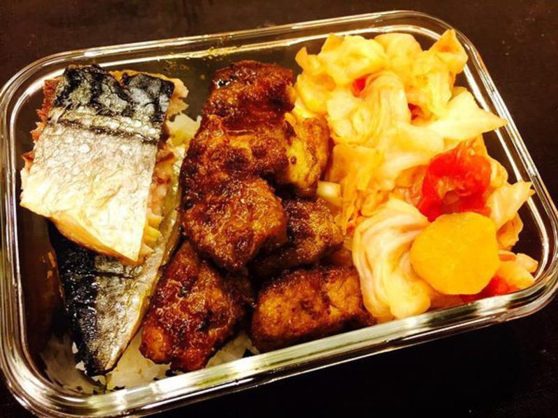 【苡璉私廚-愛妻便當】烤魚、咖哩豬