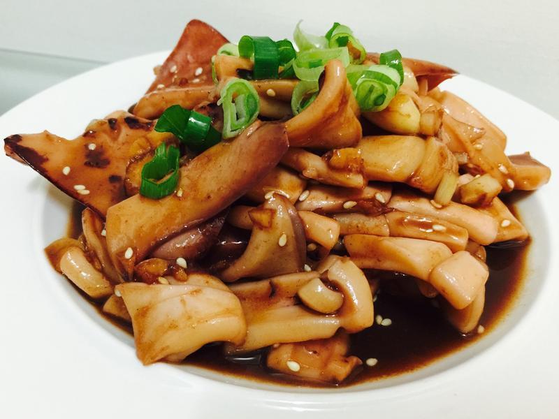 快速料理:熱炒魷魚佐蜂蜜
