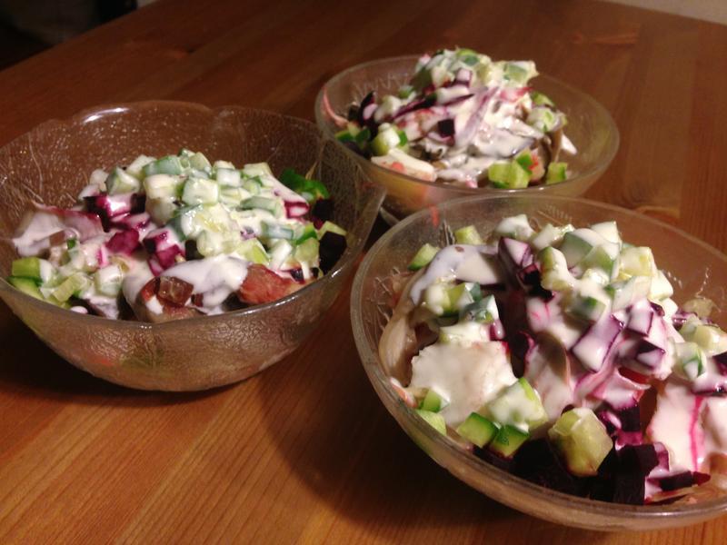 甜菜平菇馬鈴薯沙拉