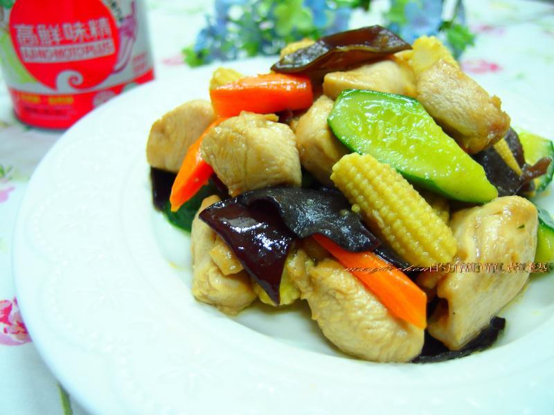 時蔬炒雞丁「味之素品牌」高鮮味精