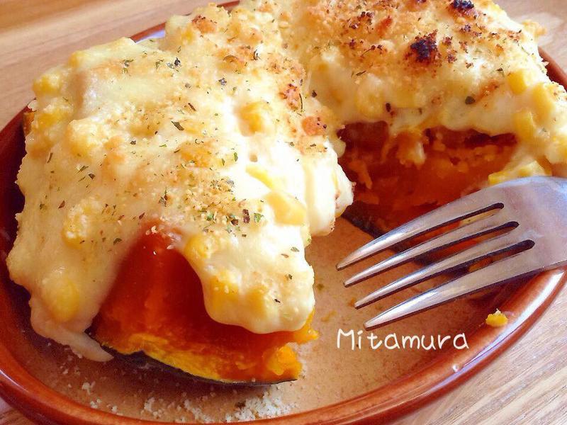 奶油玉米烤南瓜