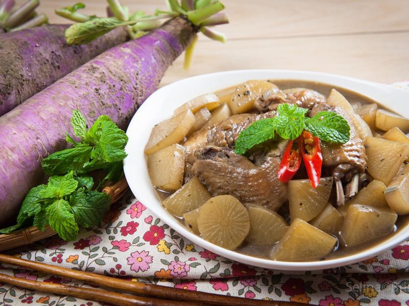 紫蘿蔔燒雞翅@美麗人妻Selina Wu