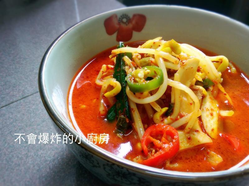 韓式爽辣肉碎黃豆芽湯