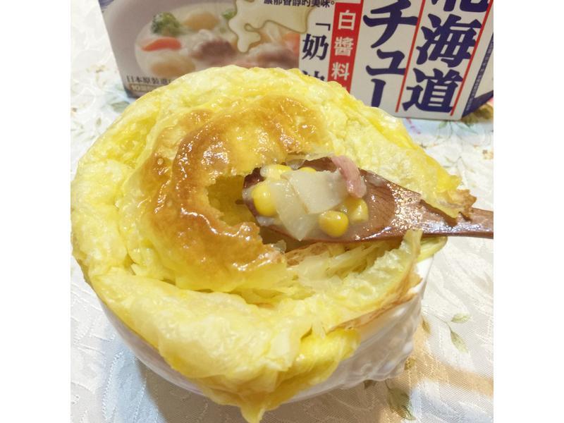 白醬~酥皮培根玉米濃湯【好侍北海道白醬】