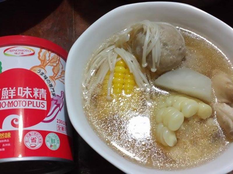 暖暖蔬食湯~「味之素品牌」高鮮味精