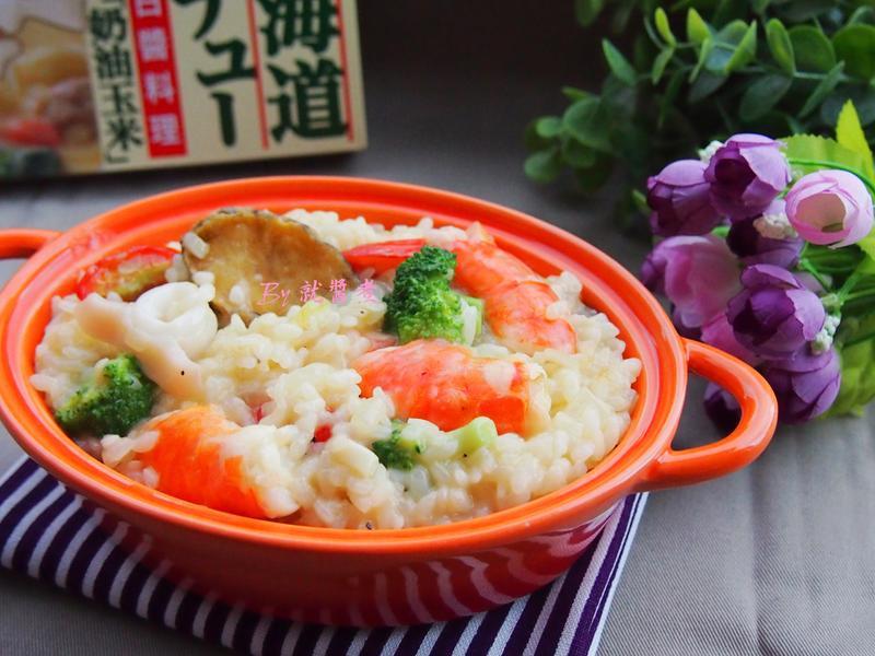 白醬海鮮燉飯【好侍北海道白醬料理】