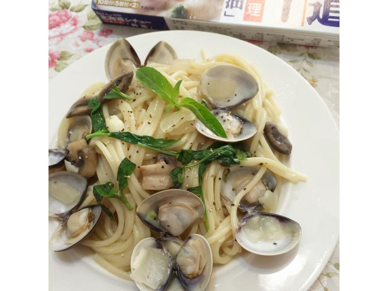奶油蛤蜊義大利麵【好侍北海道白醬】