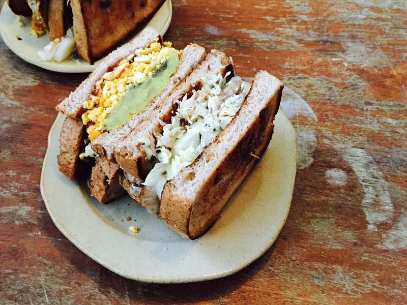 鹹甜口味早安三明治