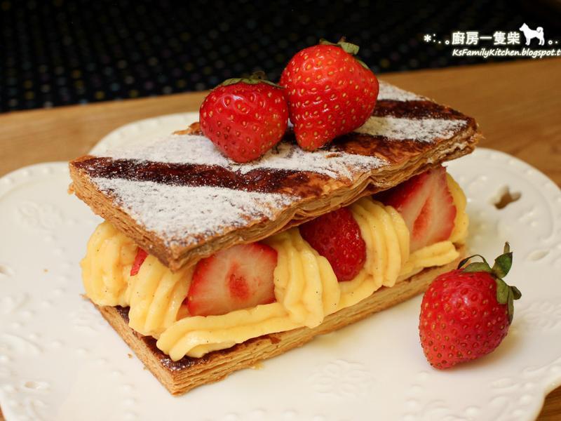 簡易草莓千層派