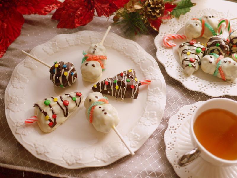聖誕快樂蛋糕棒棒糖拼盤*HOLA幸福食堂