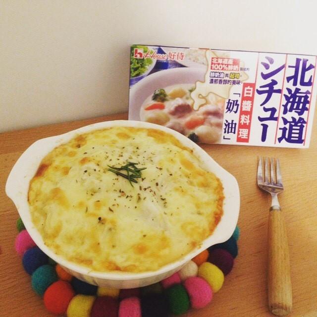 焗烤千層高麗菜【好侍北海道白醤料理】