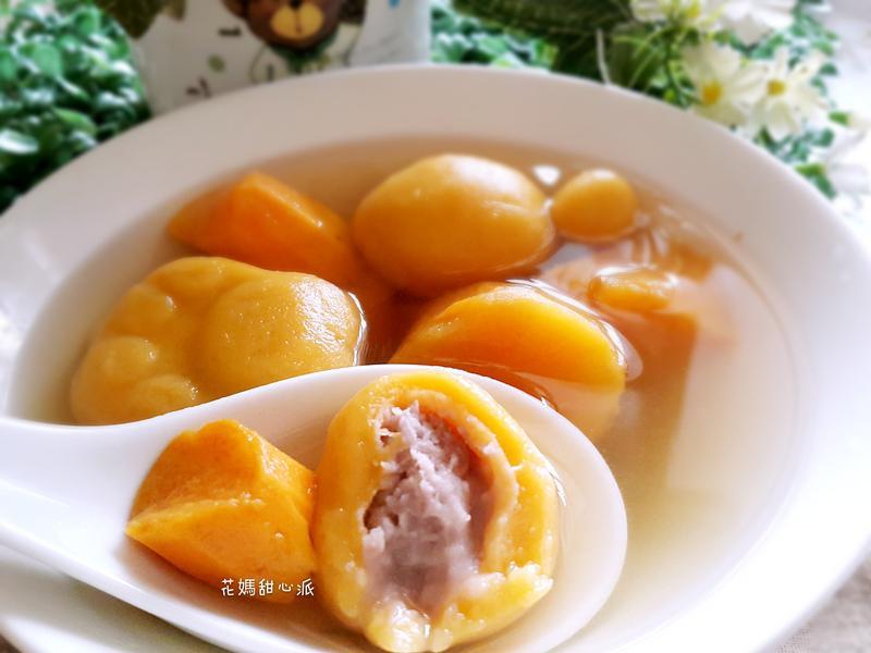 薑汁蕃薯地芋圓甜湯