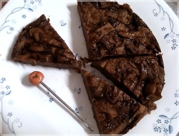 巧克力蘋果隱形蛋糕♥低熱量巧克力點心