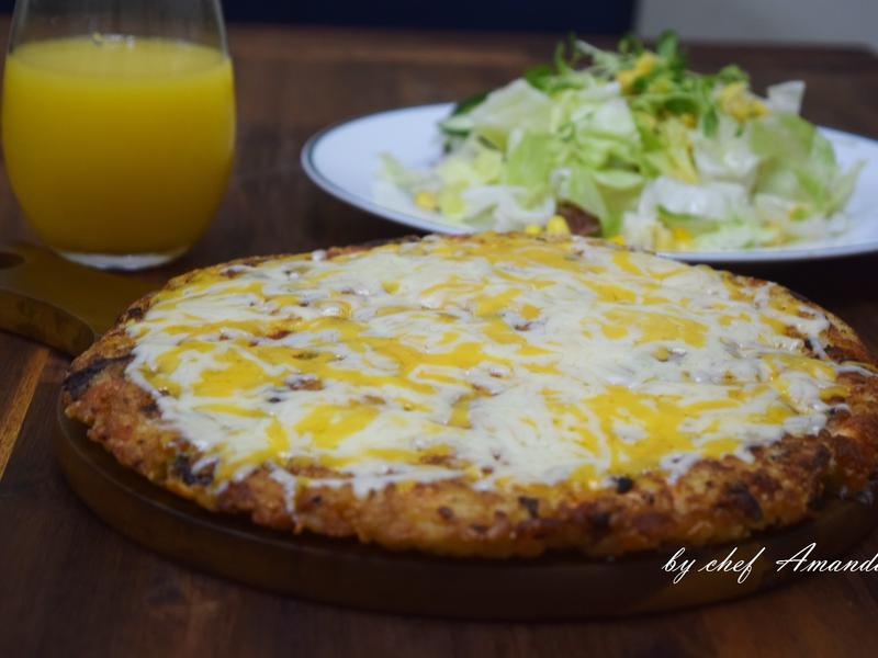ZAWA鈦讚鍋【瓷晶系列】鮭魚蘑菇米披薩
