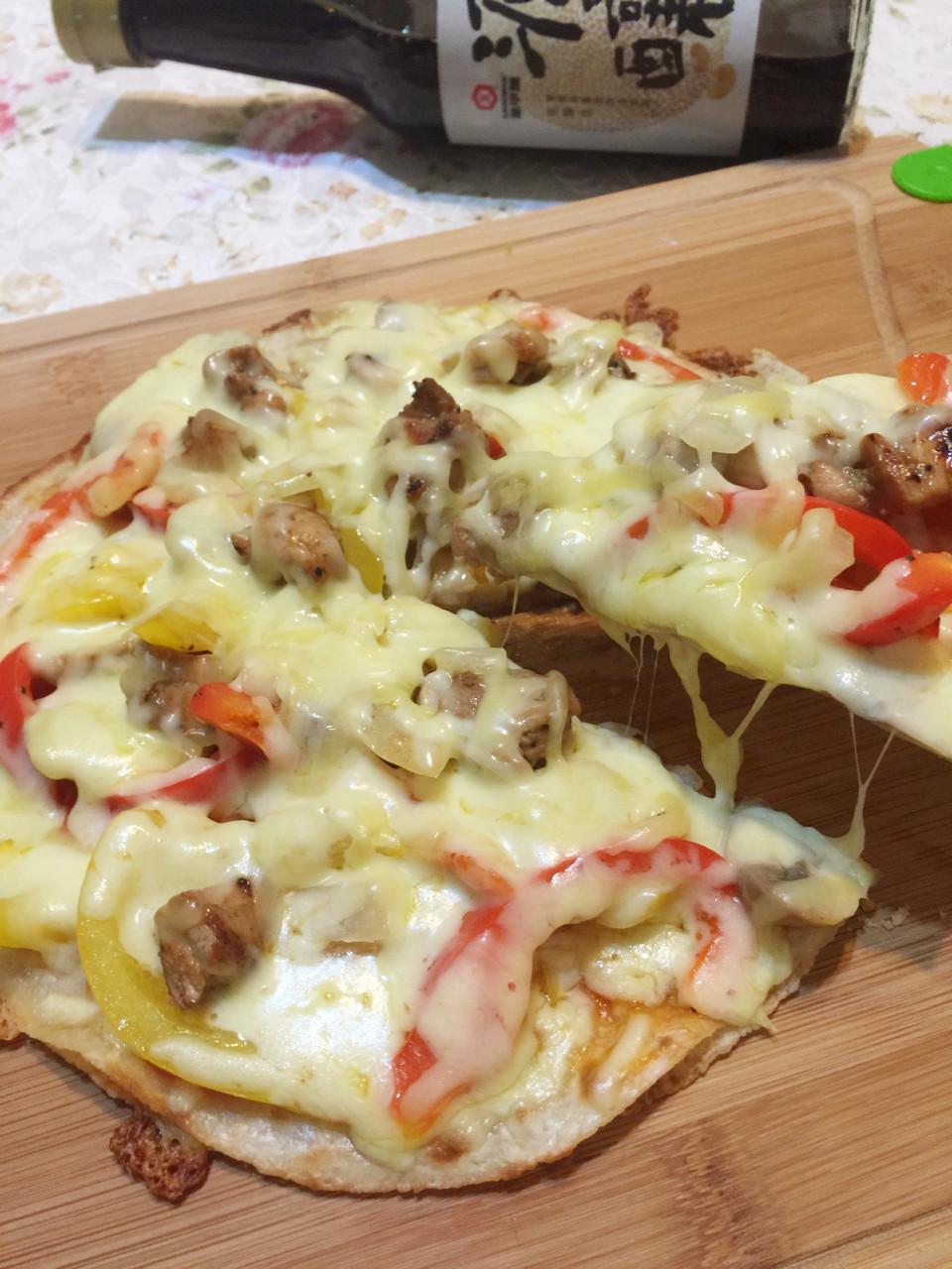 蛋餅皮之總匯披薩
