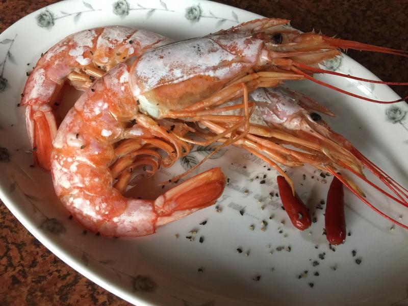 酒蒸天使紅蝦