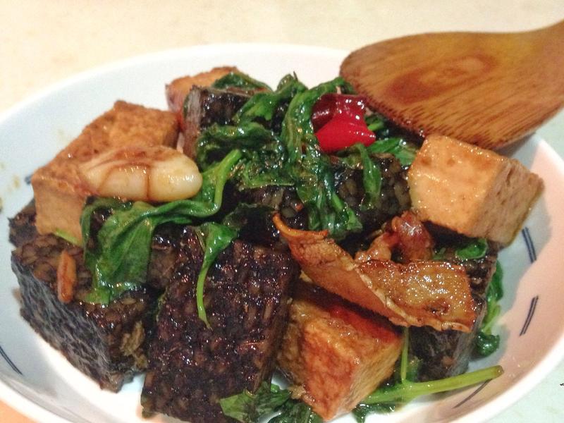 【閒妻上菜】三杯米血+百頁豆腐