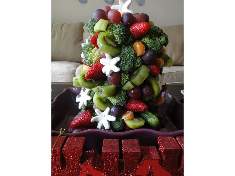 繽紛水果花椰菜耶誕樹♥!!!
