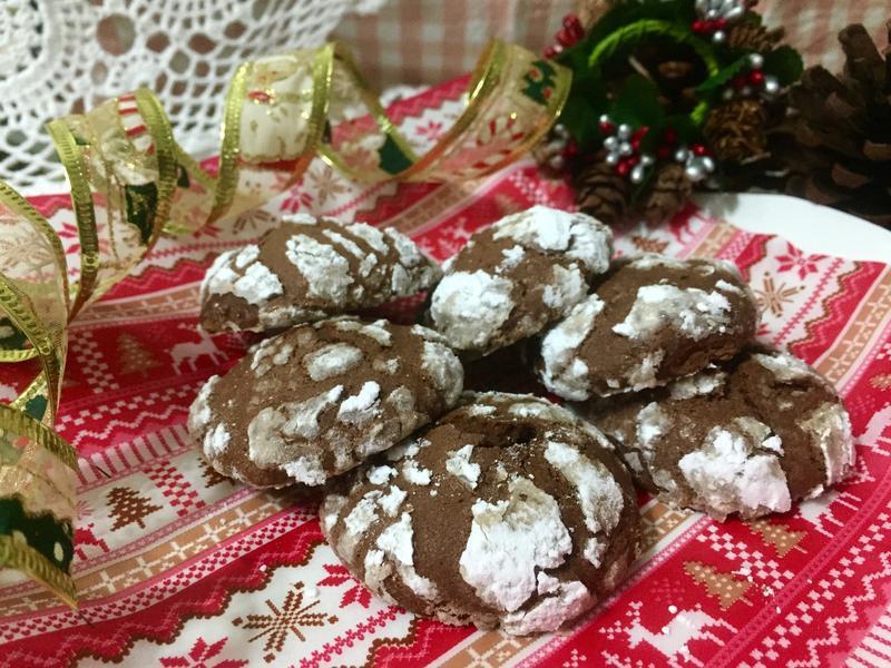 【聖誕小點】巧克力裂紋曲奇