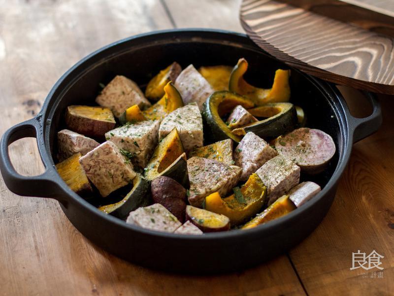 慢烤香椿茶油蔬菜|歐式派對