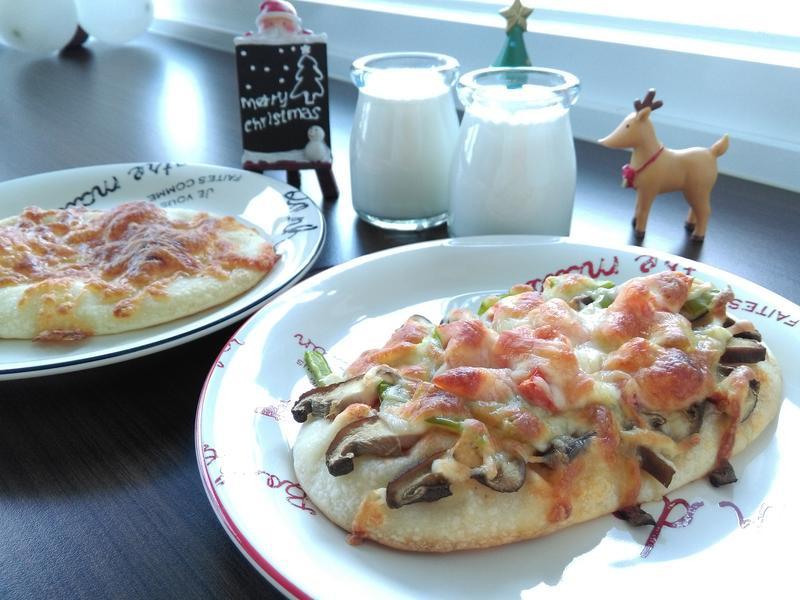 耶誕風蔬菜披薩