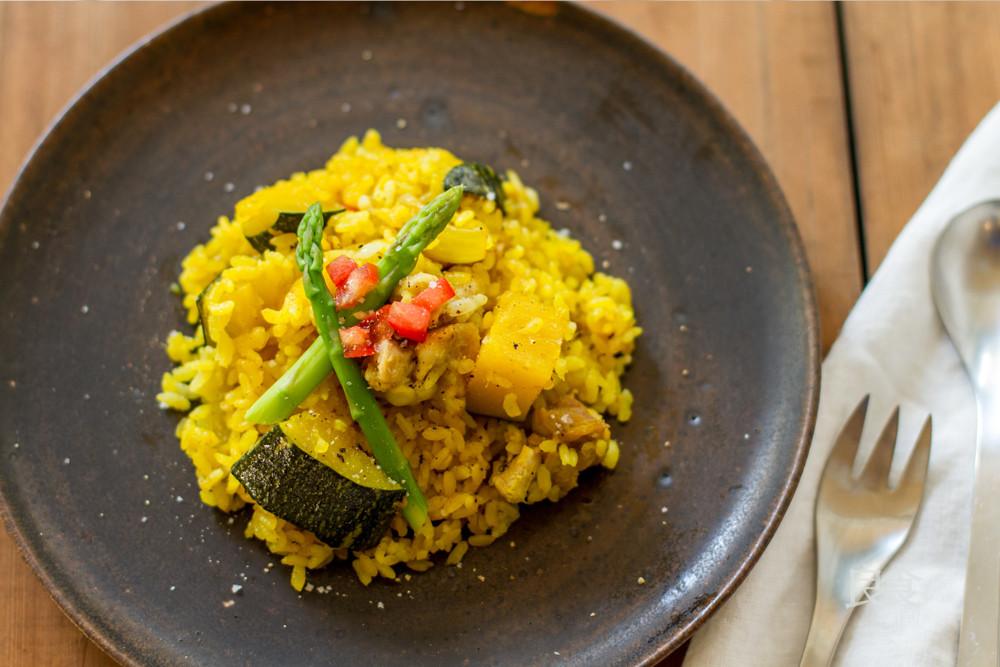 薑黃南瓜雞肉飯 電鍋燉飯