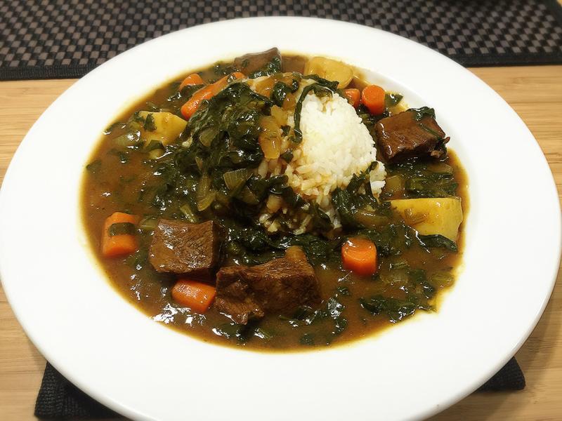 菠菜牛肉咖哩