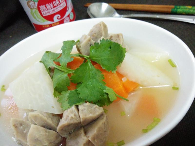 蕪菁香菇丸湯─「味之素品牌」高鮮味精