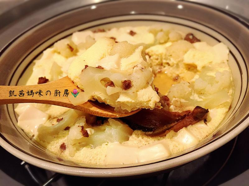 花椰菜舞豆腐蒸蛋🎶