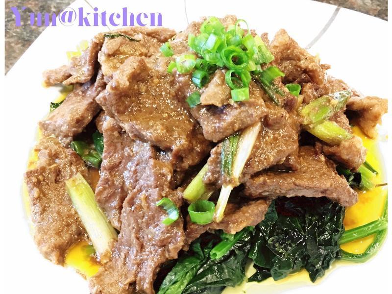 菠菜沙茶牛肉