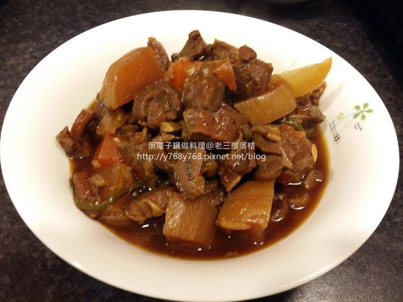 像牛肉的羊肉鍋@老三用電子鍋做料理