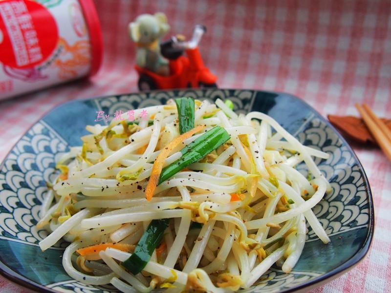炒豆芽菜「味之素品牌」高鮮味精