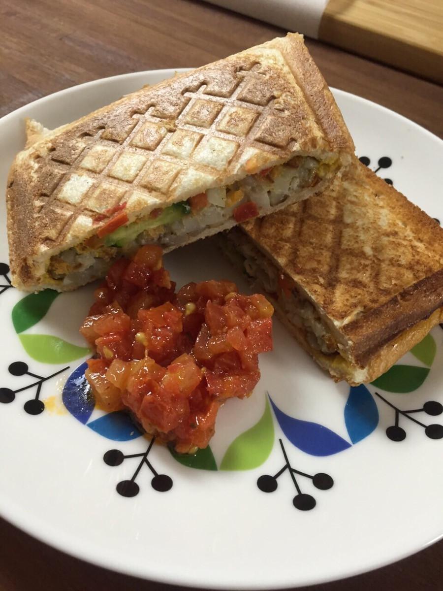 鮮蔬薯餅三明治-【麗克特-格子三明治機】