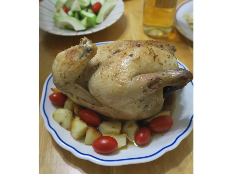 白酒香料烤雞,豐富你的跨年派對