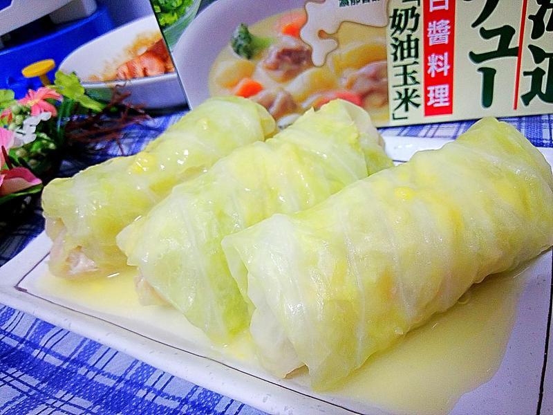 奶醬高麗菜捲-好侍北海道白醬料理