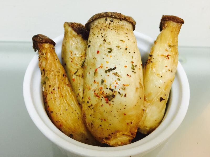 超簡單烤箱料理:椒鹽杏鮑菇