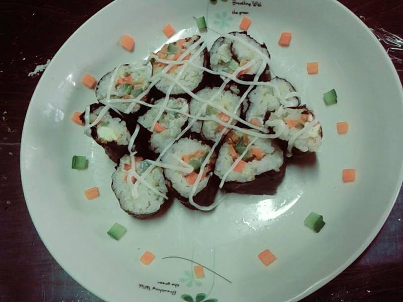 【平底鍋料理】No.9─不加蛋的壽司。