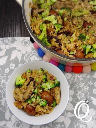 [鑄鐵鍋]秋天的風味-栗子香菇雞飯
