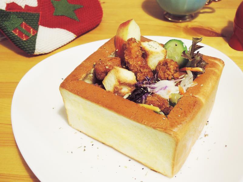 炸雞蔬菜沙拉寶盒-小七派對美食