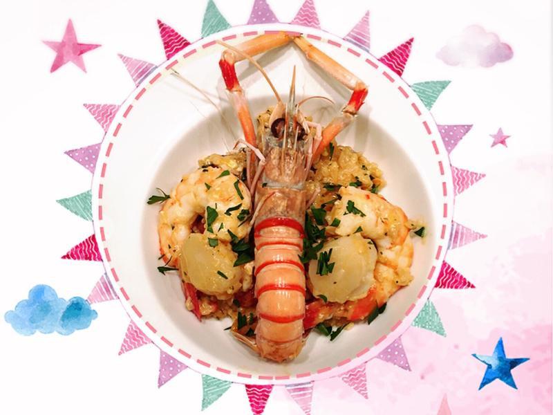 豬皮的食譜~豪華香濃海鮮飯