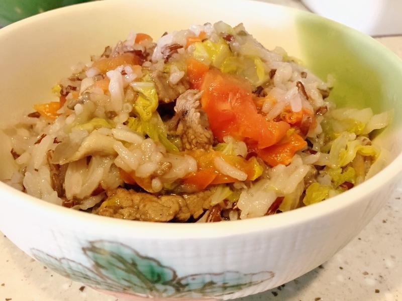**零脂肪🍅番茄牛肉蒸紅米飯🍚