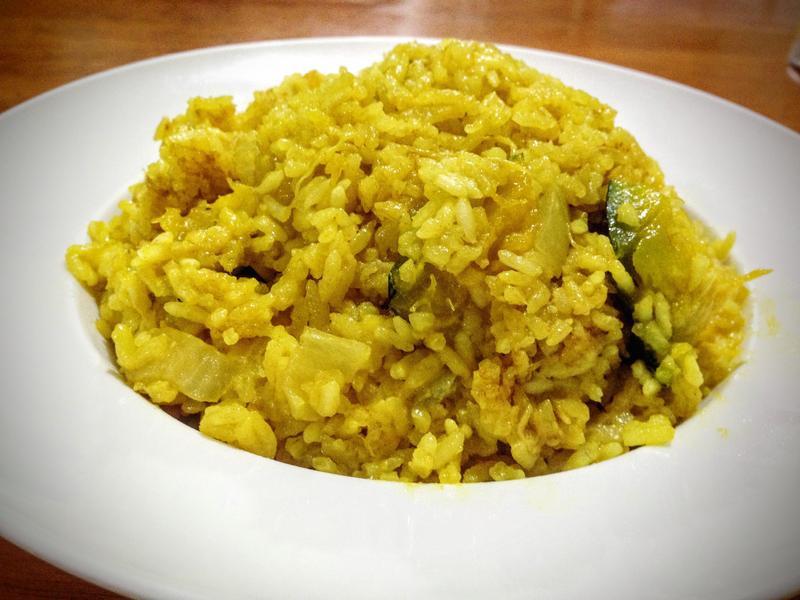 南瓜薑黃燉飯
