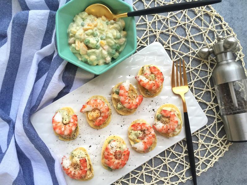 薯片牛油果鮮蝦沙拉