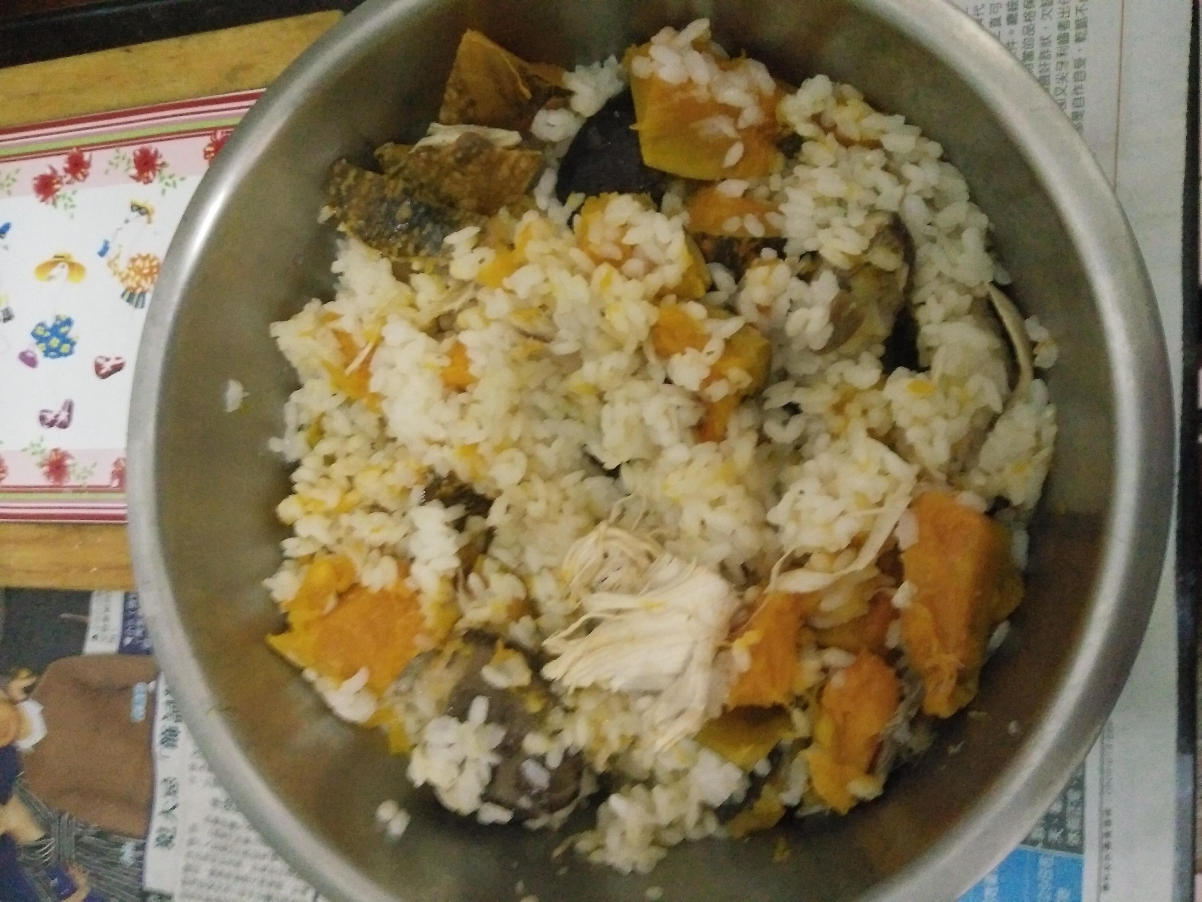 【雞湯喝不完】南瓜雞肉炊飯