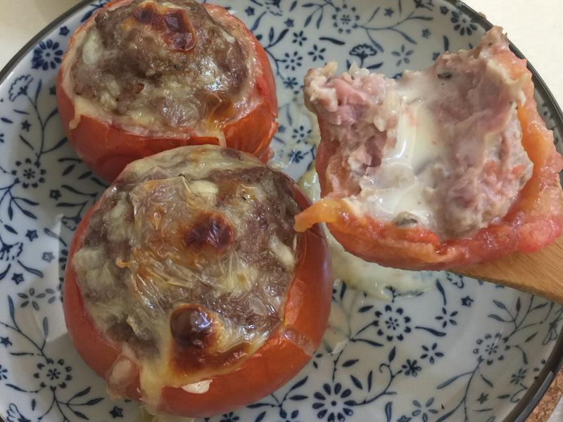 焗烤起司蕃茄盅