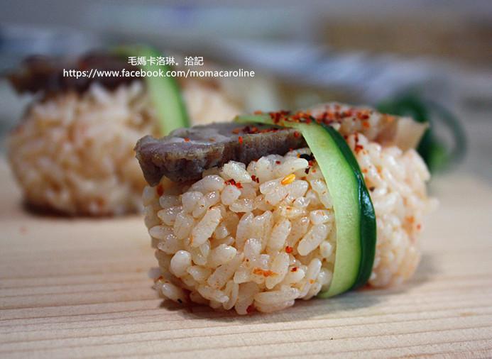 黑胡椒鹹豬肉飯團