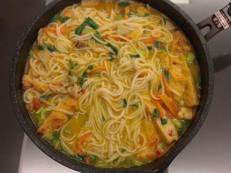 下班簡單煮 - 南瓜蔬菜湯麵