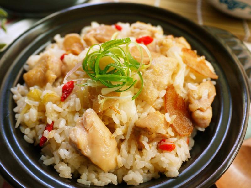 麻油雞高麗菜飯~電鍋版